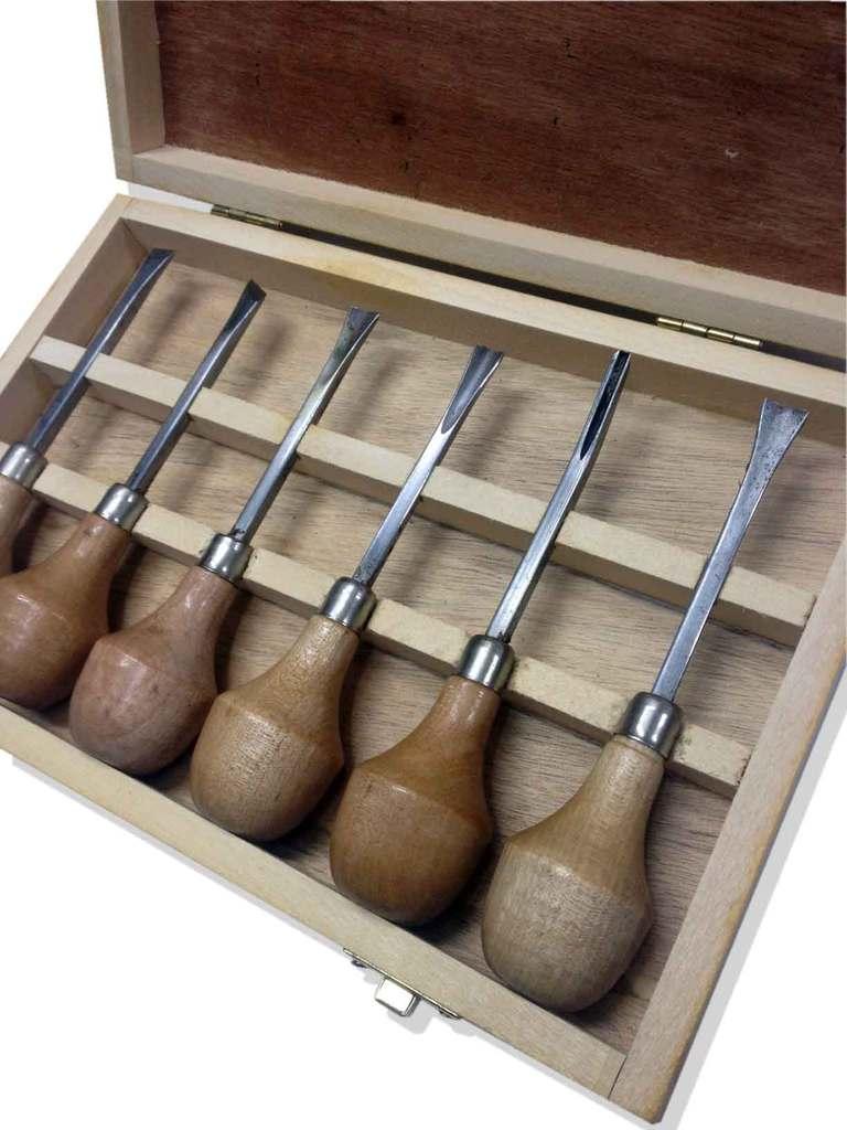 Gubias set de madera x 6 libreria artistica mucha - Gubias para madera ...