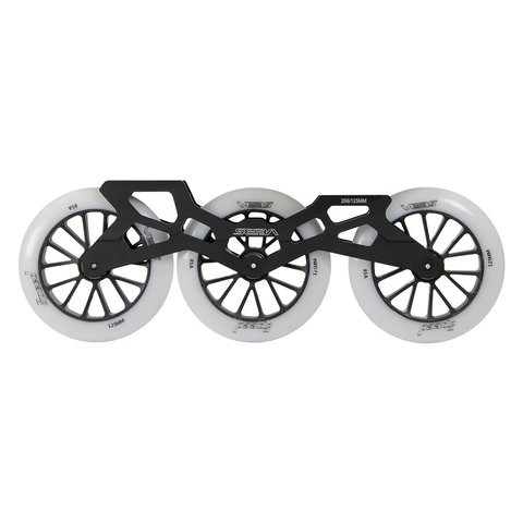 Base Tri-Wheels (3 Rodas) + Rodas 125mm 85A