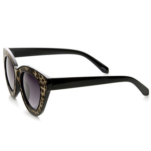 Oculos de sol classico retro em formato gatinho e estampa animal print 3d - Animal cat sunglasses - buy online