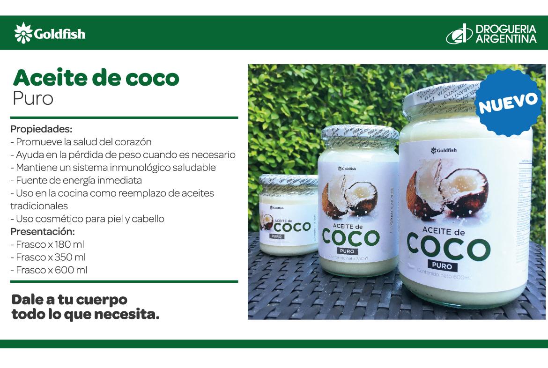 Aceite de Coco Goldsifh - Dietética Callao