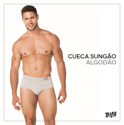 CUECA AD SLIP CX COTTON LISA TRIFIL CÓD:10250