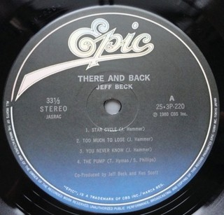 Jeff Beck - There & Back [LP]  - 180 Selo Fonográfico