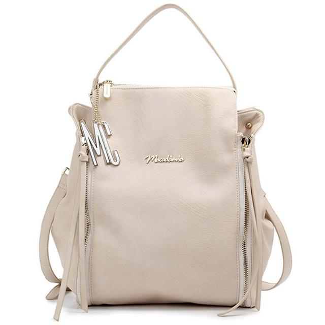 Bolsa Feminina Branca : Bolsa feminina macadamia mch e cor branca