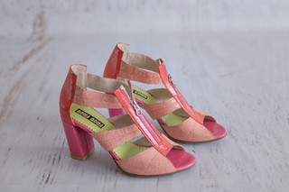 Garbiñe Sandals - Pink + Coral