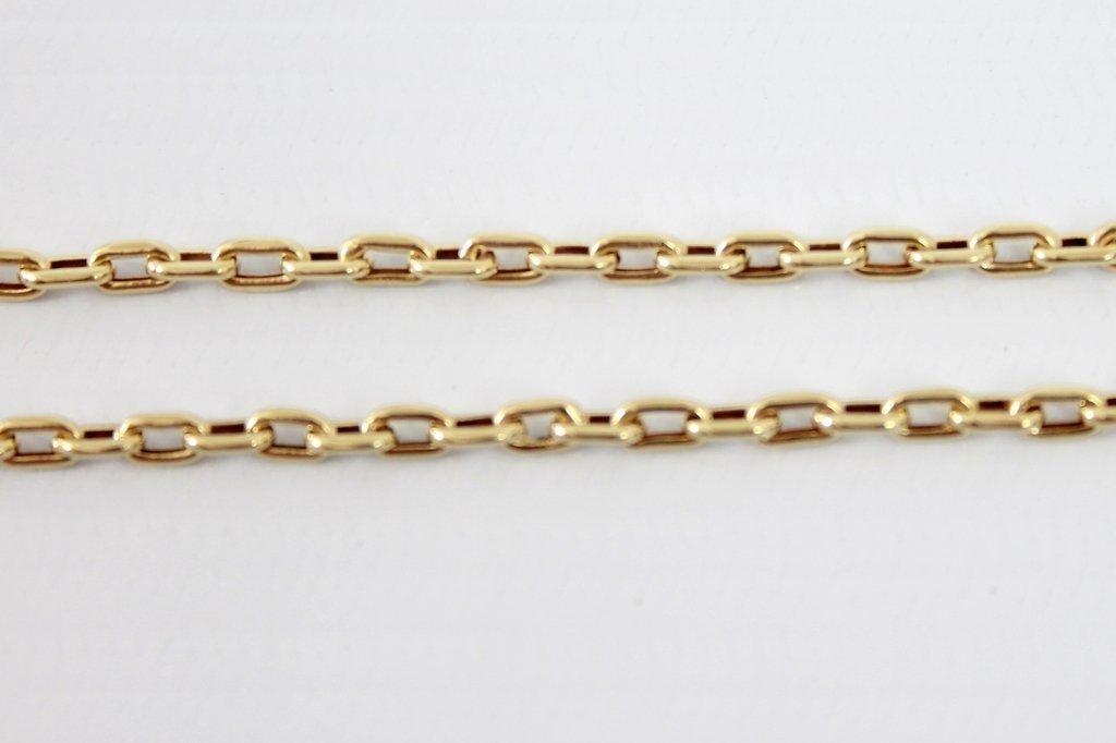 51209ac2713 Cordão Modelo Oco Cadeado de Ouro 18K 8Gr.