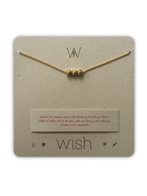 Collar 3 Corazones. Wish