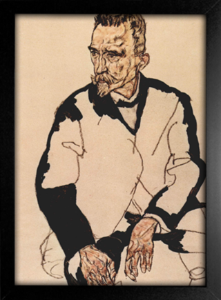 Imagem do Egon Schiele - Portrait of Heinrich Benesch