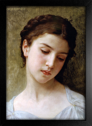 Imagem do Bouguereau - Head of a Young Girl I