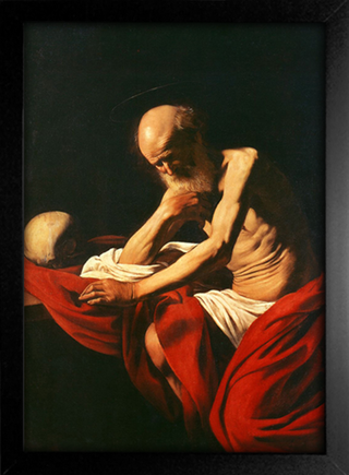 Imagem do Caravaggio - Saint Jerome in Meditation