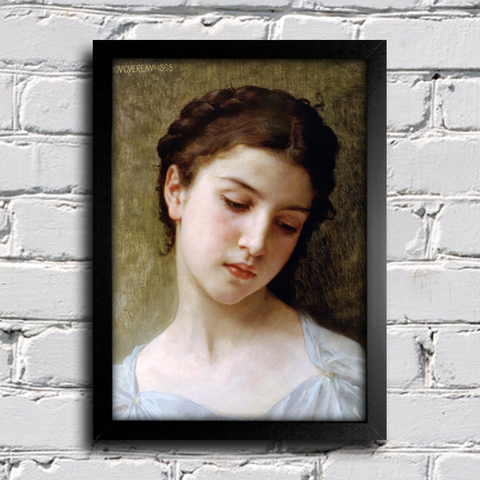 Bouguereau - Head of a Young Girl I
