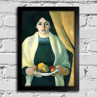 August Macke - Portrait With Apples - Portrait of the Artist's Wife - comprar online
