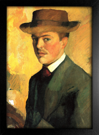 August Macke - Self Portrait With Hat - loja online