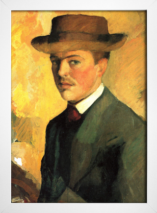 Imagem do August Macke - Self Portrait With Hat