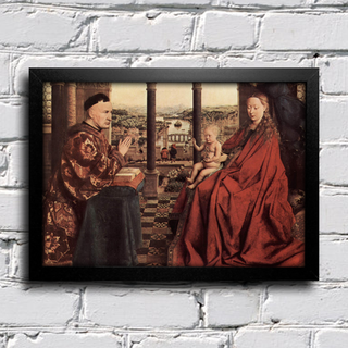Jan Van Eyck - A Virgem do Chanceler Rolin