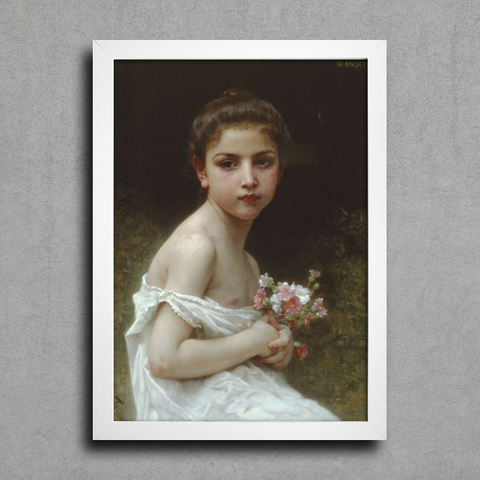 Bouguereau - Little Girl With a Bouquet