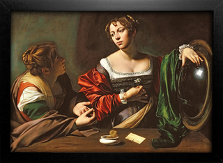 Caravaggio - Martha and Mary Magdalene