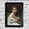Bouguereau - Little Girl With a Bouquet - comprar online