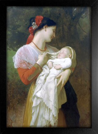 Imagem do Bouguereau - Maternal Admiration
