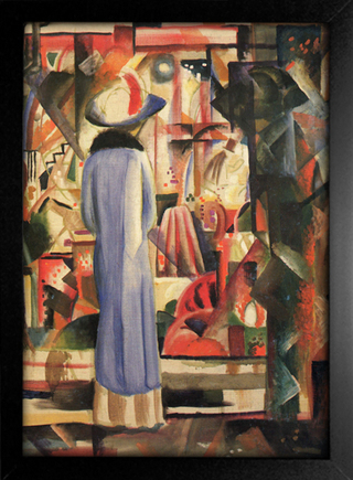 August Macke - Woman in Front of a Large Illuminated Window - loja online