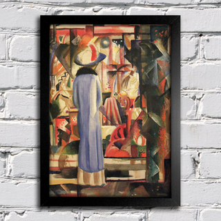 August Macke - Woman in Front of a Large Illuminated Window - comprar online