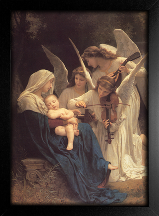 Imagem do Bouguereau - The Virgin With Angels