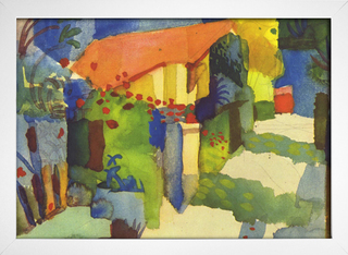 Imagem do August Macke - House in the Garden