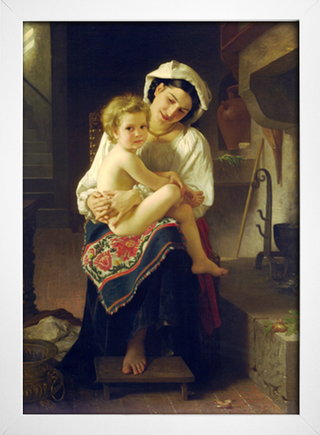 Bouguereau - Young Mother Gazing at her Child - loja online