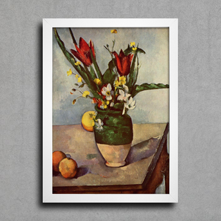 Cezanne - Still Life  Tulips and Apples - Encadreé Posters