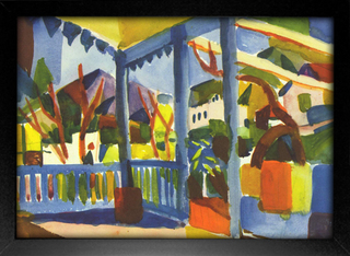 August Macke - Terrace of the Country House in St Germain - loja online