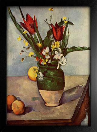 Cezanne - Still Life  Tulips and Apples - comprar online