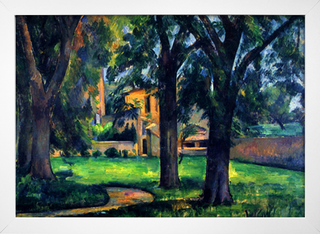 Cezanne - Chestnut Tree and Farm - loja online