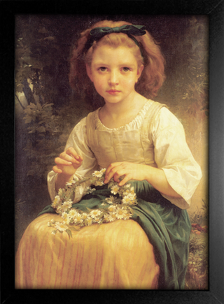 Imagem do Bouguereau - Child Braiding a Crown