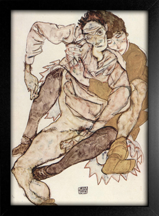 Imagem do Egon Schiele - Seated Couple Egon and Edith Schiele