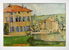 Cezanne - House and Farm at Jas de Bouffan - loja online