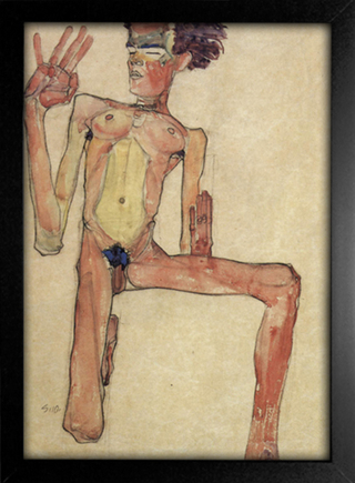 Imagem do Egon Schiele - Self-Portrait III