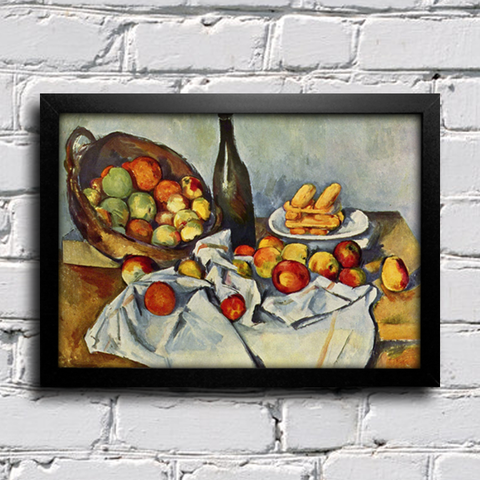 Cezanne - Still Life Drapery Pitcher and Fruit Bowl