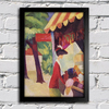 August Macke - In Front of the Hat Shop - Woman With Red Jacket and Child - comprar online