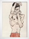 Egon Schiele - Standing Male Nude With a Red Loincloth - loja online