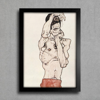 Egon Schiele - Standing Male Nude With a Red Loincloth - comprar online