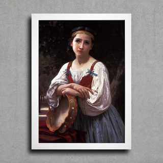 Bouguereau - Gypsy Girl With a Basqued Drum - comprar online
