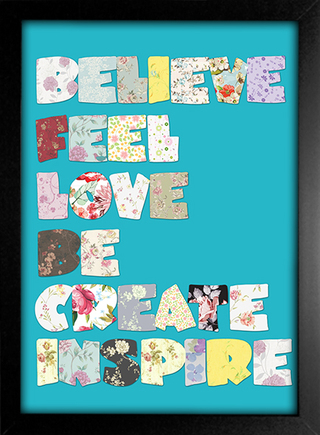 Imagem do Poster Believe Feel Love Be Create Inspire