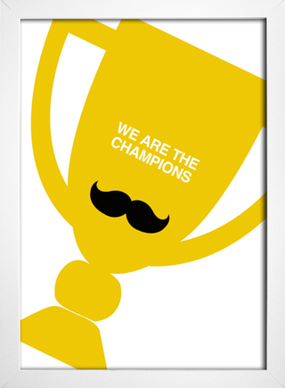 Poster Queen - We are The Champions - Encadreé Posters