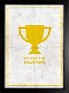 Poster Queen - We are The Champions || - Encadreé Posters
