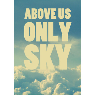 Poster Beatles Above Us Only Sky - loja online