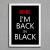 poster ac/dc im back in black estilo keep calm