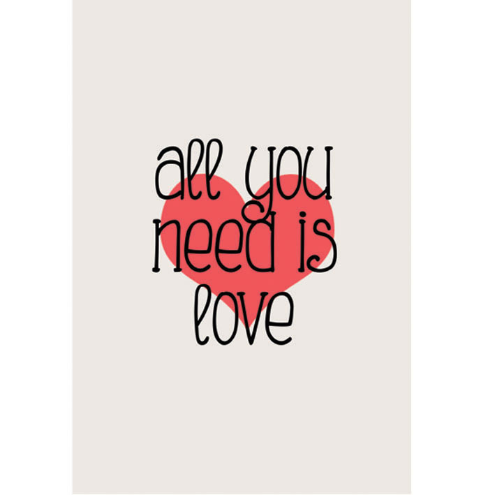poster beatles all you need is love encadre posters. Black Bedroom Furniture Sets. Home Design Ideas