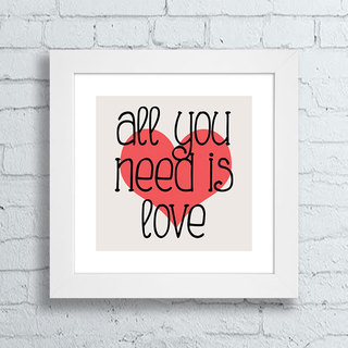 Quadro Beatles - All You Need Is Love - comprar online