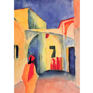 August Macke - Blick in Eine Gasse na internet