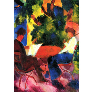 August Macke - At The Garden Table na internet