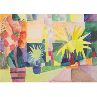 August Macke - Garden on Lake Thun na internet
